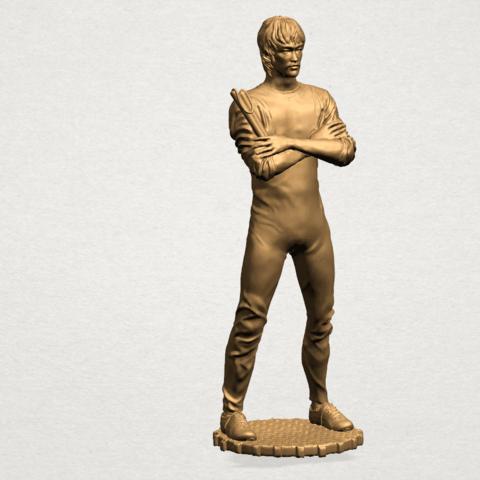Bruce Lee B01.png Download free STL file Bruce Lee • 3D printing design, GeorgesNikkei