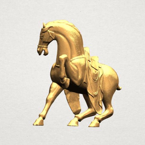 Horse III - B04.png Télécharger fichier STL gratuit Cheval 03 • Design imprimable en 3D, GeorgesNikkei