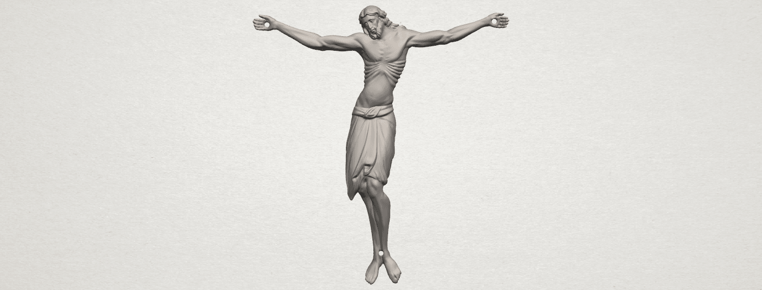 TDA0230 Jesus (iv) A00.png Download free STL file Jesus 04 • Template to 3D print, GeorgesNikkei