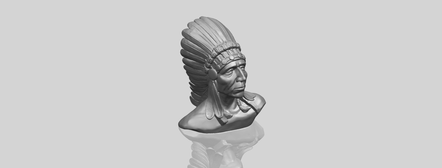09_TDA0489_Red_Indian_03_BustA00-1.png Download free STL file Red Indian 03 • 3D printer model, GeorgesNikkei