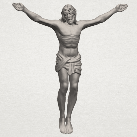 TDA0230 Jesus (i) A00.png Download free STL file Jesus 01 - top • Object to 3D print, GeorgesNikkei