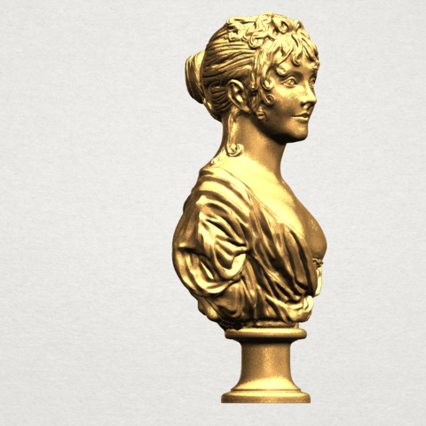Bust of a girl 01 A06.png Download free STL file Bust of a girl 01 • Object to 3D print, GeorgesNikkei