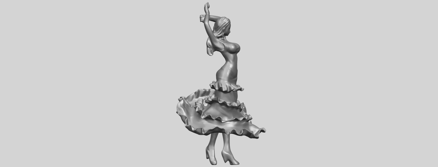 23_Girl_with_Dress_80mm-A02.png Download free STL file Girl with Dress • Object to 3D print, GeorgesNikkei