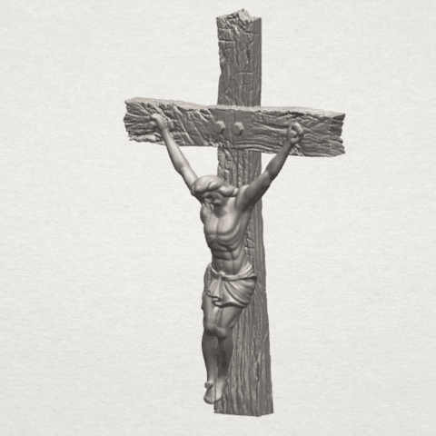 Download free STL file Jesus with cross 01, GeorgesNikkei