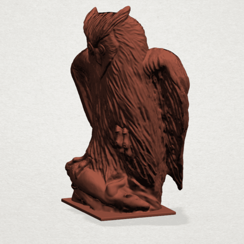 Owl (ii) B02.png Download free STL file Owl 02 • 3D printer object, GeorgesNikkei