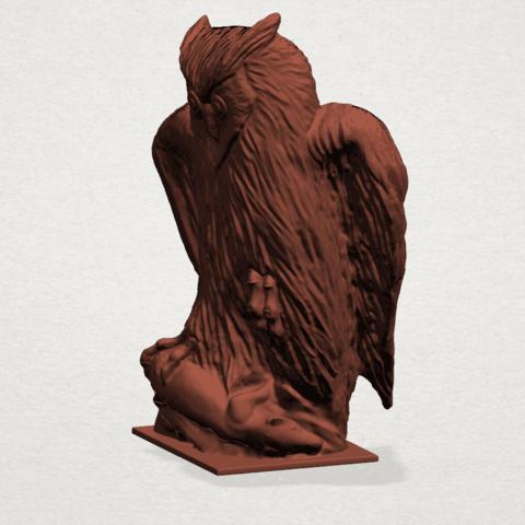Owl (ii) B02.png Télécharger fichier STL gratuit Hibou 02 • Plan pour imprimante 3D, GeorgesNikkei