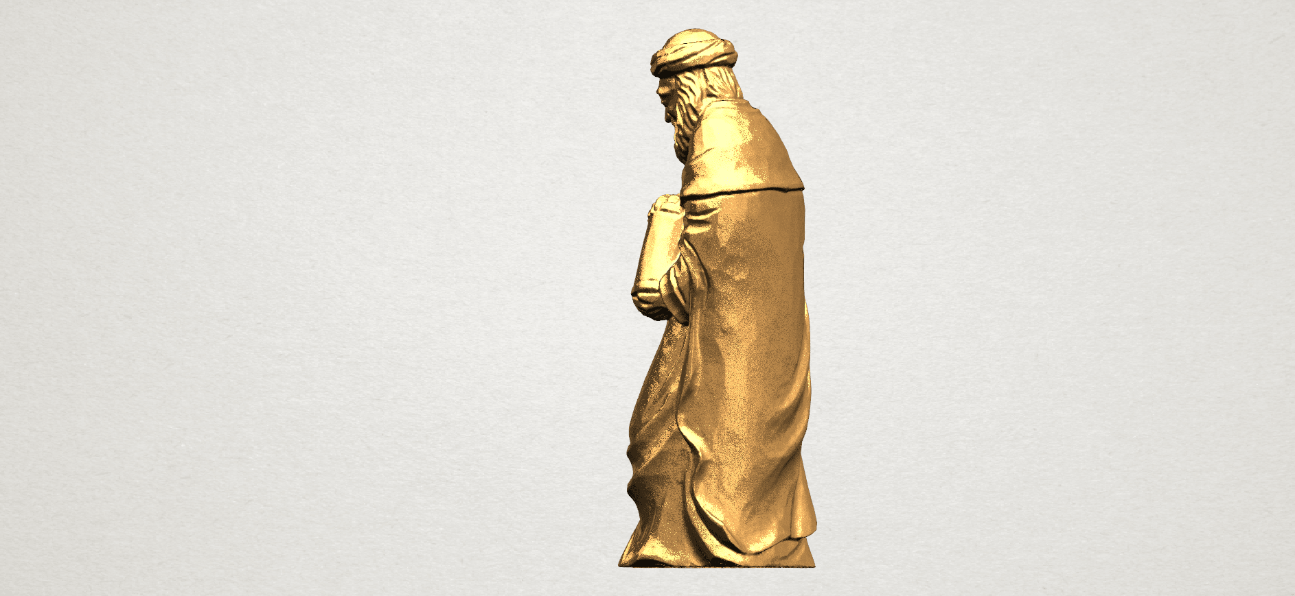 Sculpture of Arabian 88mm - A03.png Download free STL file Sculpture of Arabian • 3D print template, GeorgesNikkei
