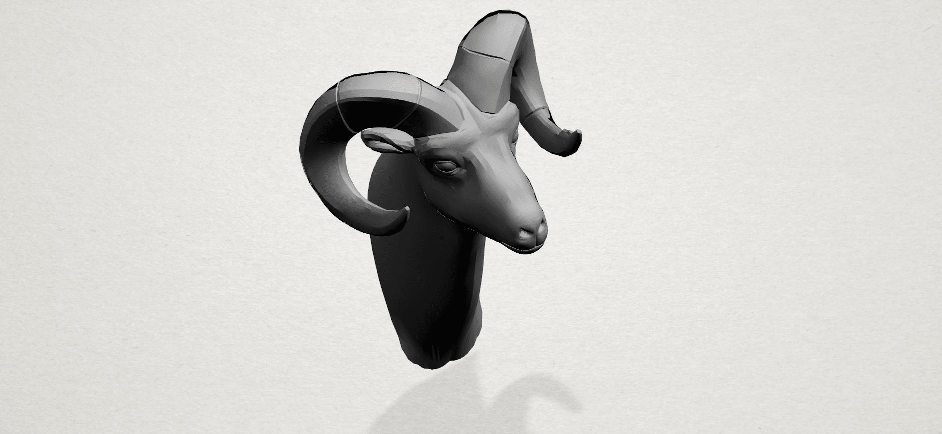 Goat - A03.png Télécharger fichier STL gratuit Chèvre 01 • Design pour impression 3D, GeorgesNikkei