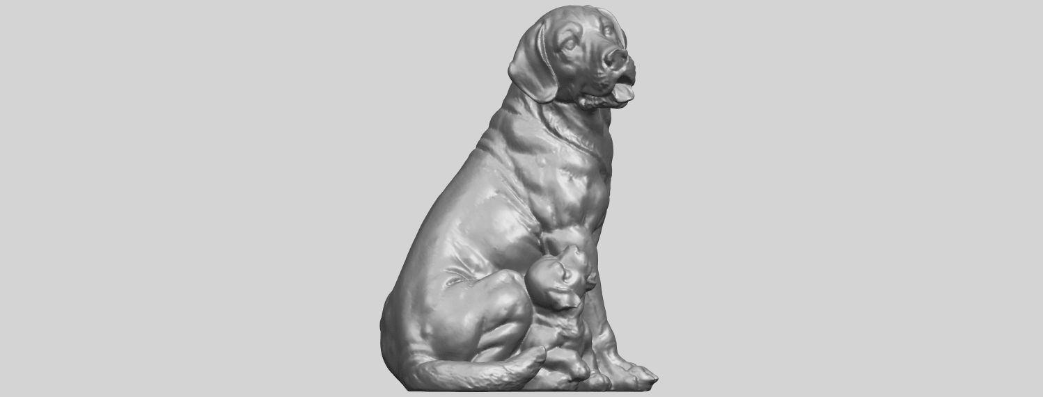 02_TDA0526_Dog_and_PuppyA02.png Download free STL file Dog and Puppy 01 • Model to 3D print, GeorgesNikkei