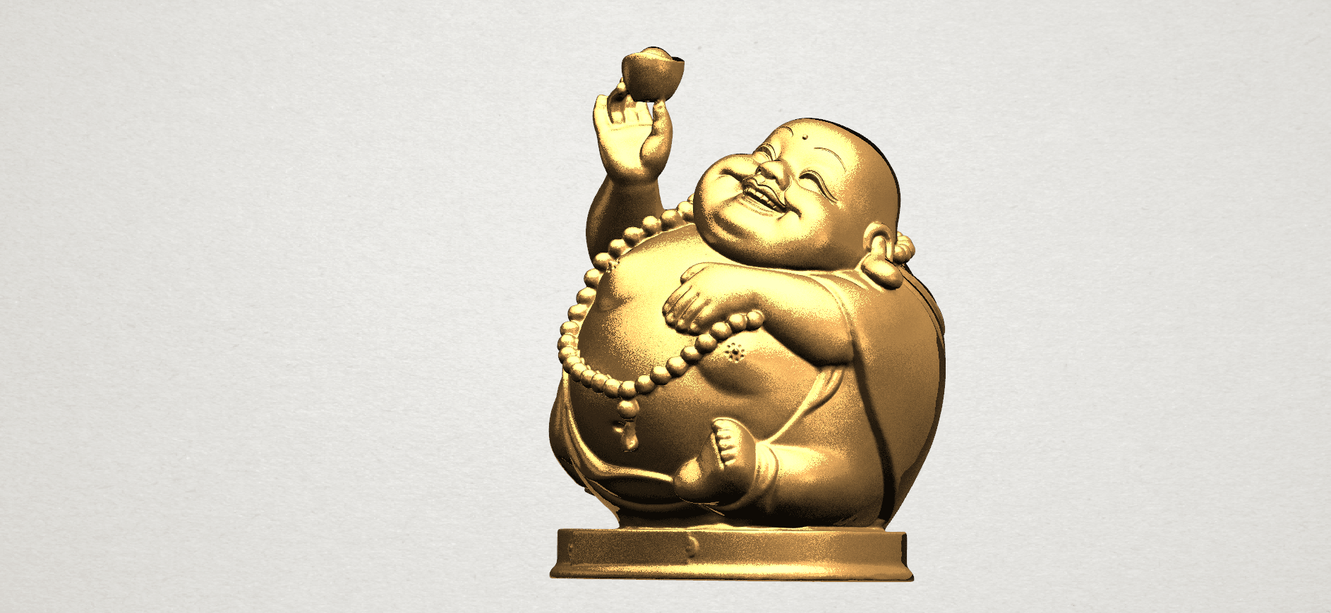 Metteyya Buddha 07 - 88mm - A02.png Download free 3DS file Metteyya Buddha 07 • 3D printer model, GeorgesNikkei