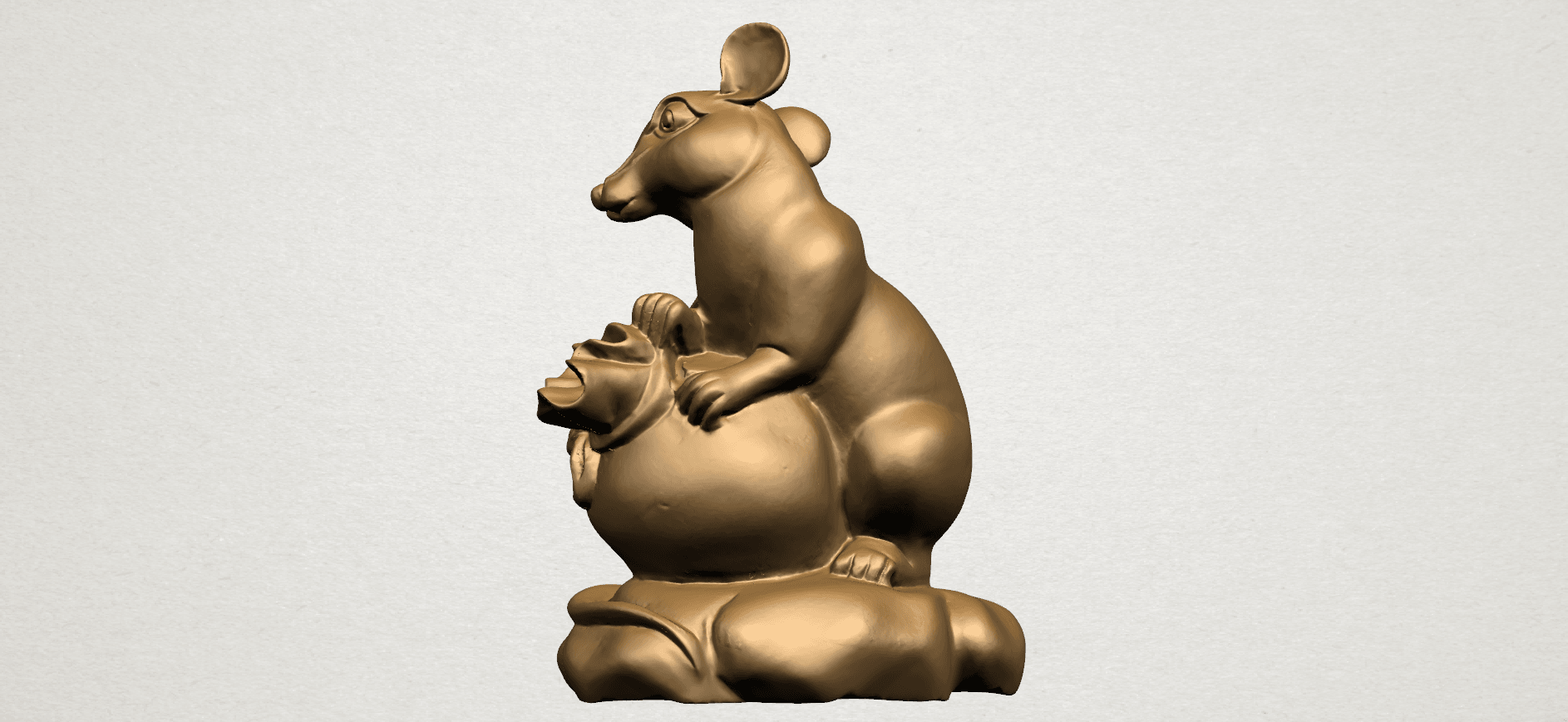 Chinese Horoscope01-A01.png Download free STL file Chinese Horoscope 01 Rat • 3D printing object, GeorgesNikkei