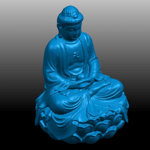 08.png Télécharger fichier STL gratuit Gautama Bouddha 01 • Plan pour impression 3D, GeorgesNikkei