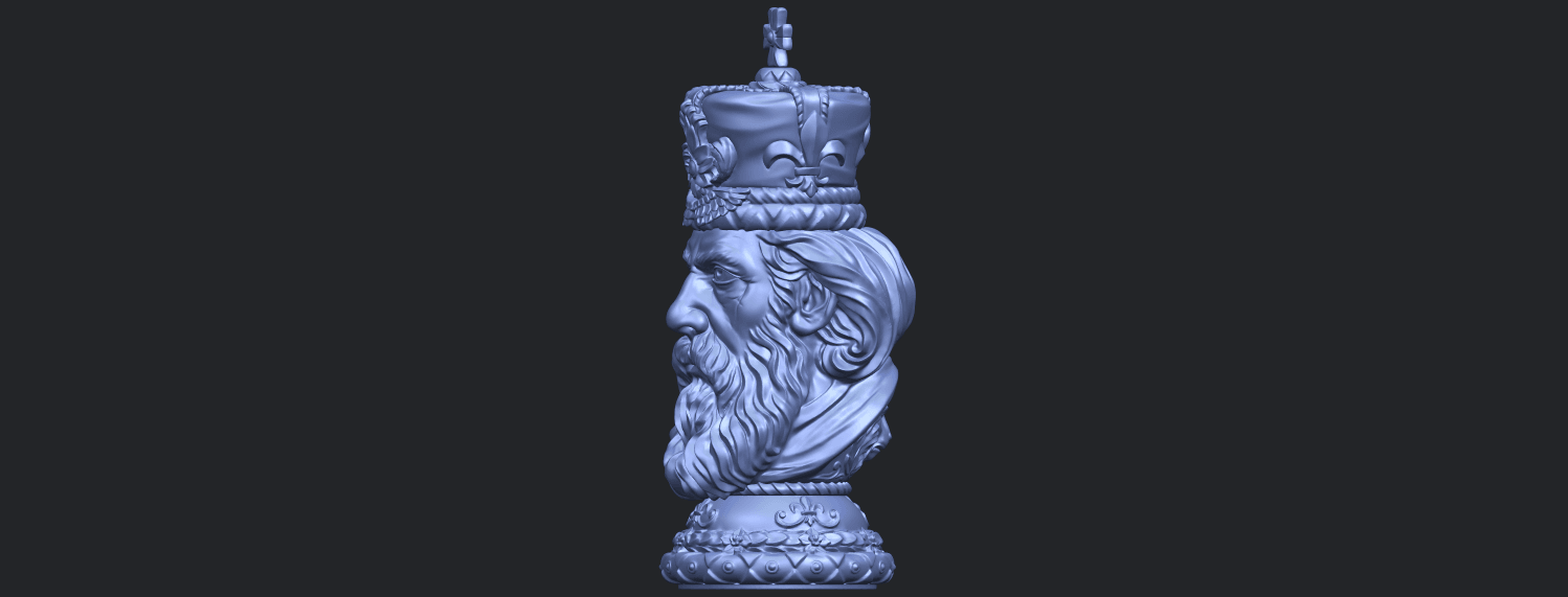 06_TDA0254_Chess-The_KingB03.png Download free STL file Chess-The King • 3D printer model, GeorgesNikkei