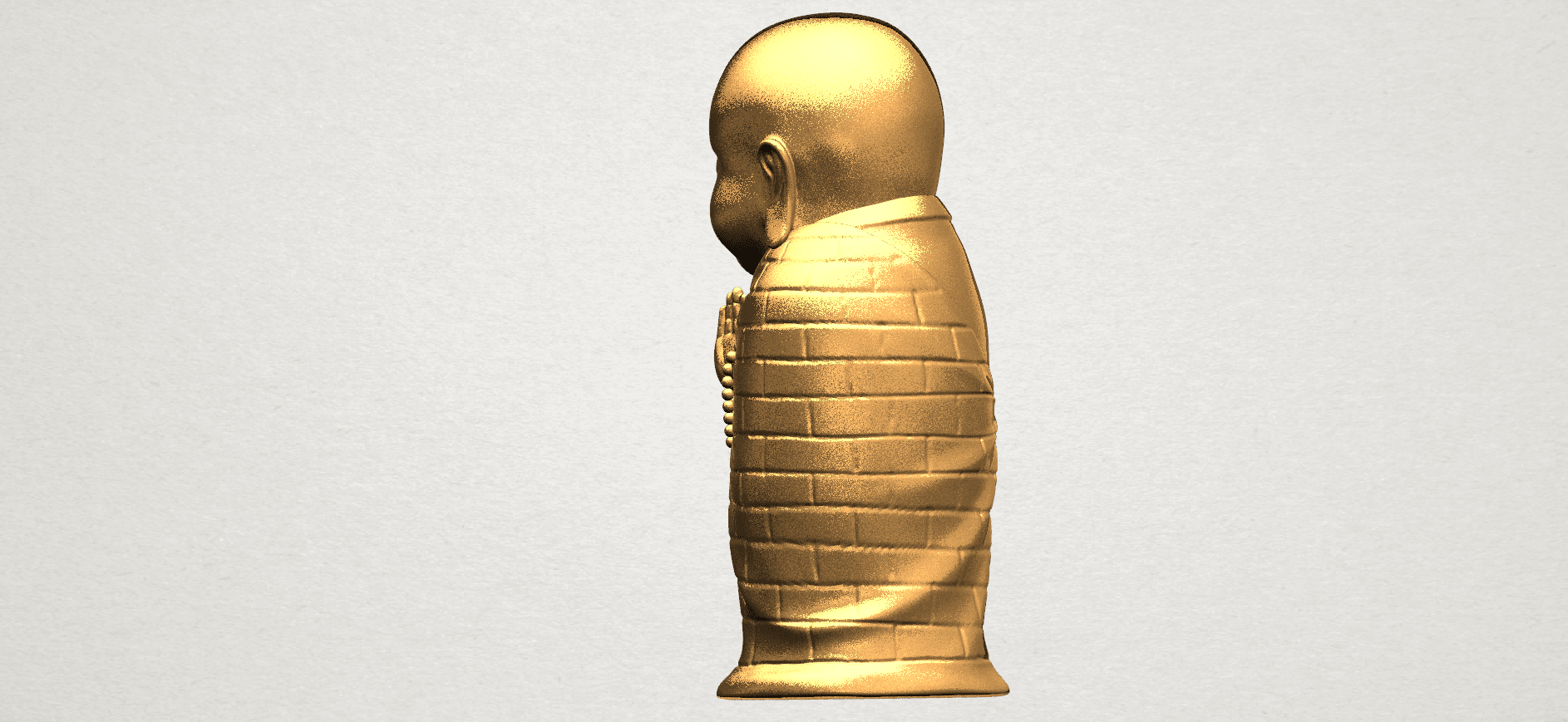Little Monk 80mm - A03.png Download free STL file Little Monk 01 • 3D printable design, GeorgesNikkei