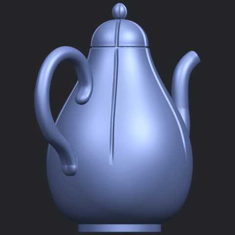 19_TDA0323_Tea_Pot_iiB05.png Download free STL file Tea Pot 02 • 3D printer template, GeorgesNikkei