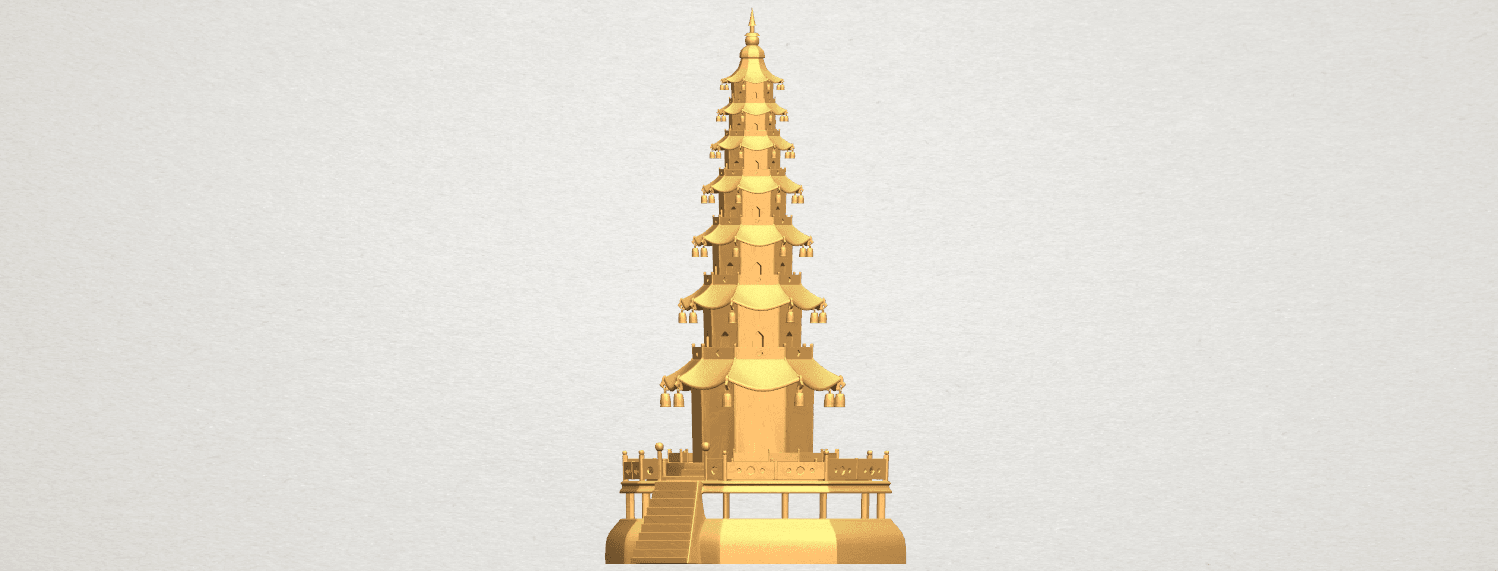 TDA0623 Chiness pagoda A02.png Download free STL file Chiness pagoda • Design to 3D print, GeorgesNikkei