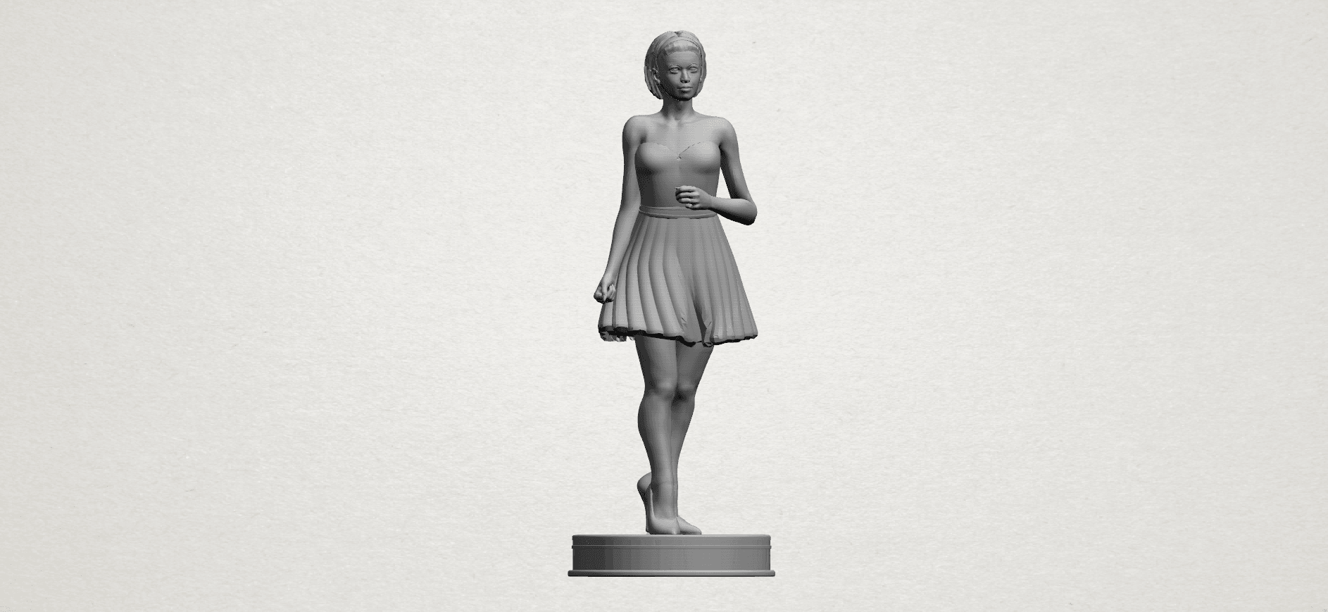 Standing girl- A01.png Download free STL file Standing girl • 3D printer design, GeorgesNikkei