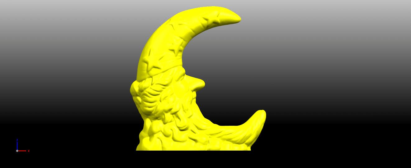 01.png Télécharger fichier STL gratuit Lune • Design pour impression 3D, GeorgesNikkei