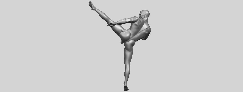 06_TDA0547_Man_KickingA06.png Télécharger fichier STL gratuit Man Kicking • Objet pour impression 3D, GeorgesNikkei