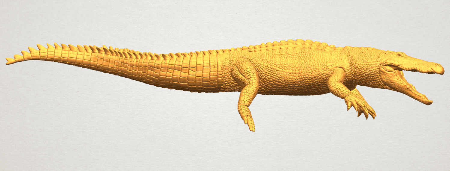 A01.png Download free STL file Alligator 01 • 3D printer object, GeorgesNikkei