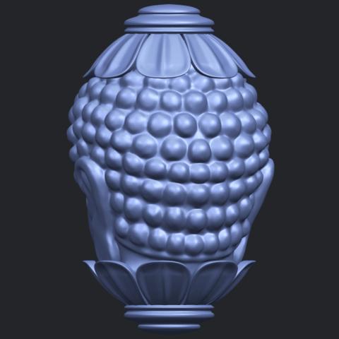 11_Buddha_Head_Sculpture_80mmB06.png Download free STL file Buddha - Head Sculpture • 3D printing model, GeorgesNikkei