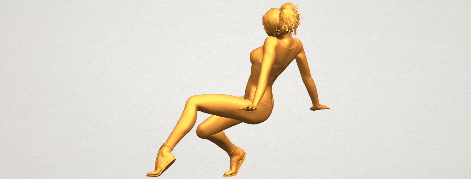A04.png Download free STL file Naked Girl G03 • 3D print object, GeorgesNikkei