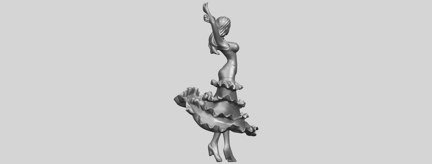23_Girl_with_Dress_80mm-A01.png Download free STL file Girl with Dress • Object to 3D print, GeorgesNikkei