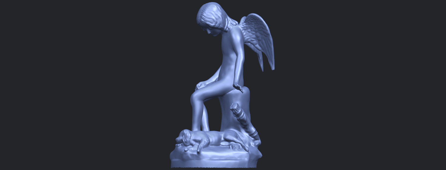 05_Angel_and_Dog_80mmB03.png Download free STL file Angel and Dog • 3D print model, GeorgesNikkei