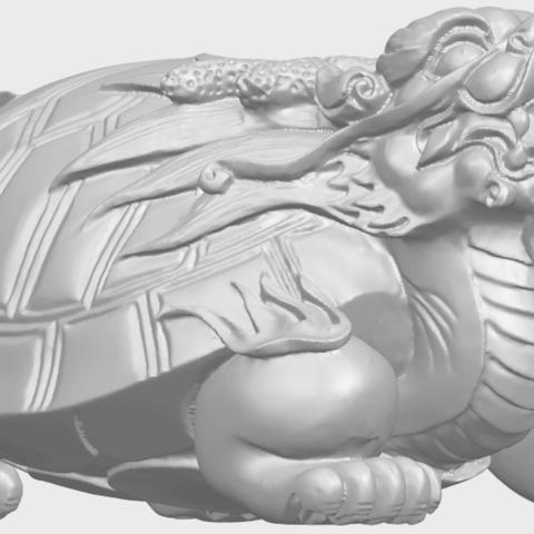 01_TDA0333_Dragon_TortoiseA08.png Download free STL file Dragon  Tortoise • Model to 3D print, GeorgesNikkei
