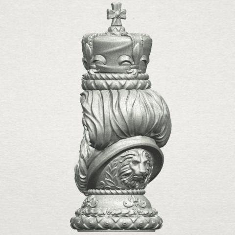 TDA0254 Chess-The King A06.png Télécharger fichier STL gratuit Chess-Le roi des échecs • Objet pour impression 3D, GeorgesNikkei