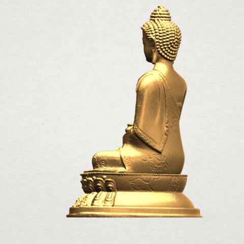 Thai Buddha (iii) A04.png Download free STL file Thai Buddha 03 • 3D printing object, GeorgesNikkei