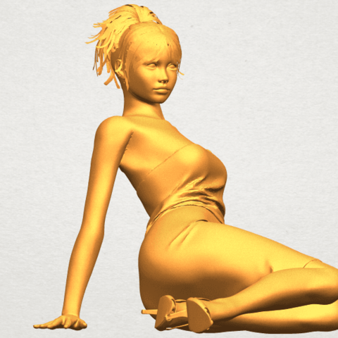 A10.png Download free STL file Naked Girl F05 • 3D printer object, GeorgesNikkei