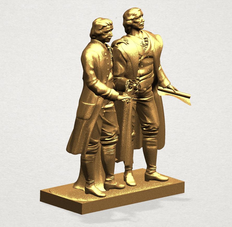 Goethe schiller 80mm - A05.png Télécharger fichier STL gratuit Goethe Schiller • Modèle imprimable en 3D, GeorgesNikkei
