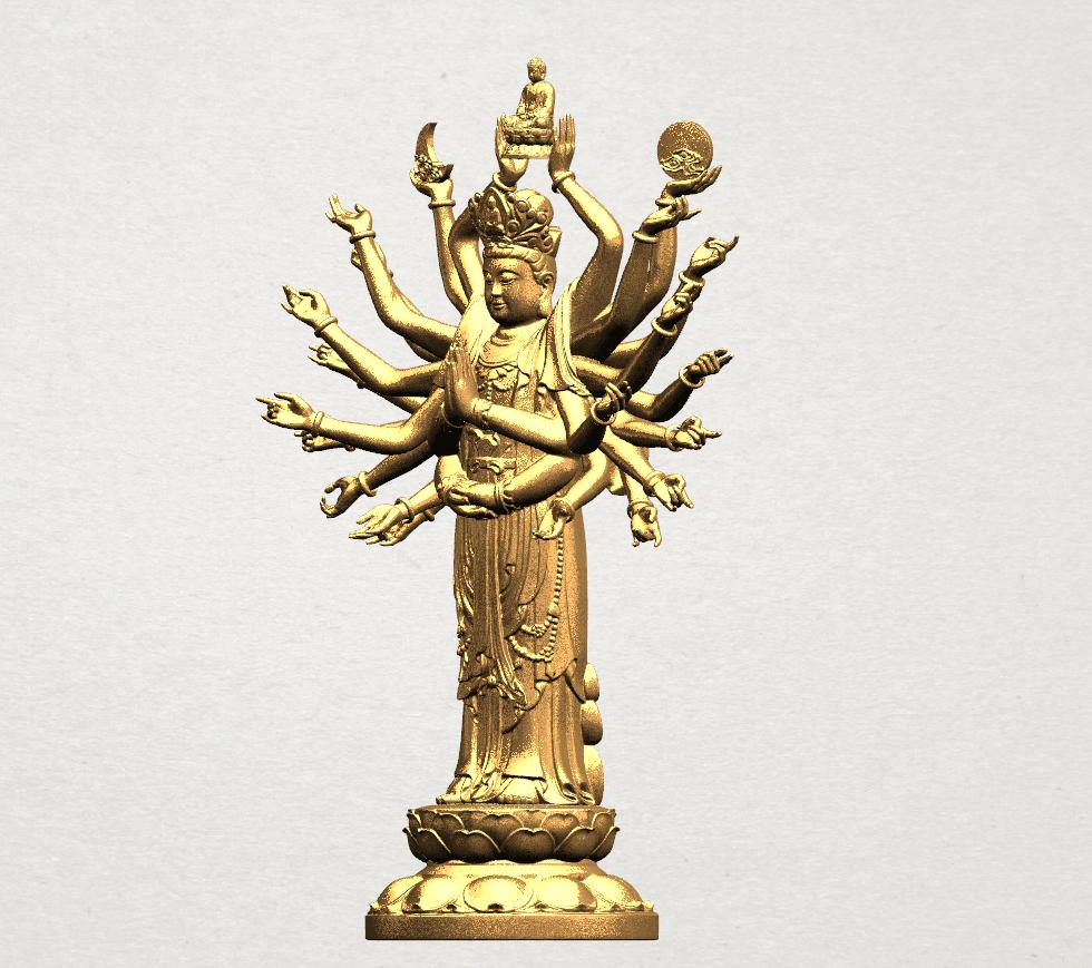 Avalokitesvara Bodhisattva (multi hand) 80mm -B02.png Download free STL file Avalokitesvara Bodhisattva (multi hand) (i) • 3D print object, GeorgesNikkei