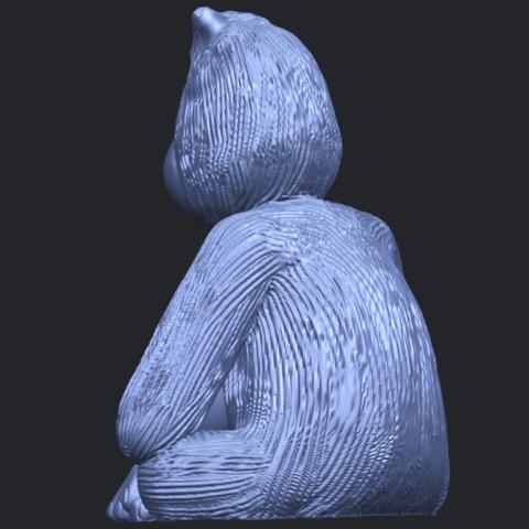 09_TDA0606_ChimpanzeeB05.png Télécharger fichier STL gratuit Chimpanzé • Design imprimable en 3D, GeorgesNikkei