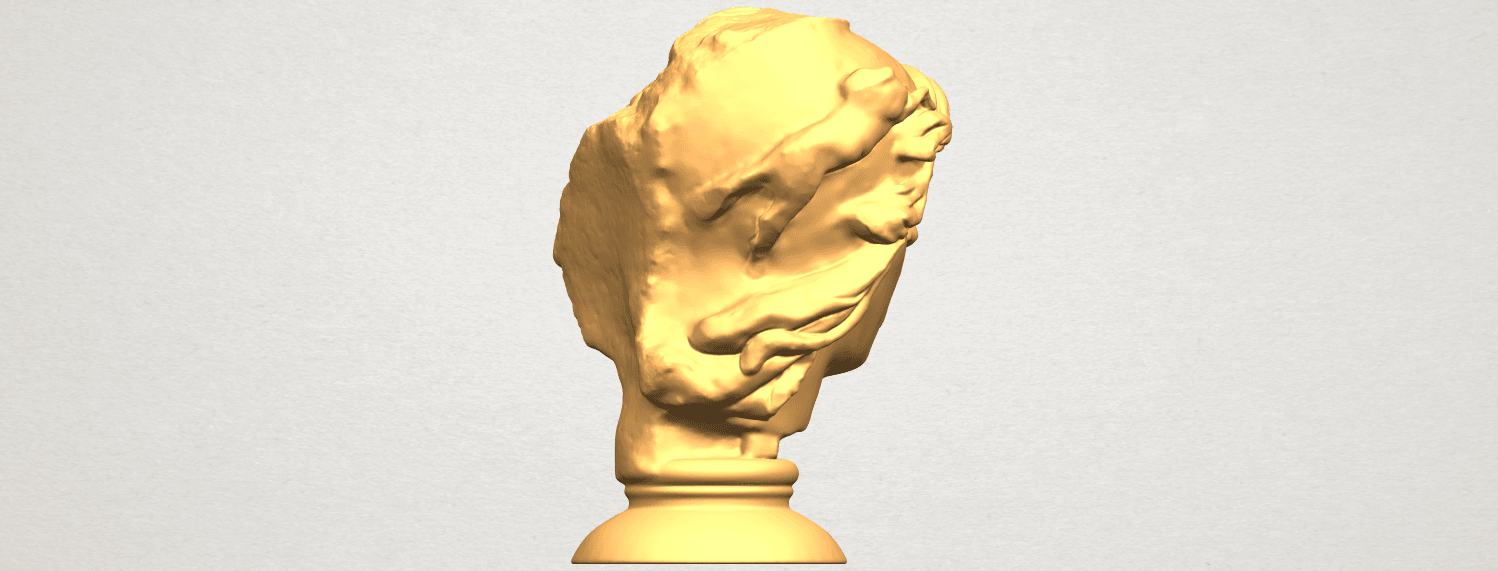A08.png Download free STL file Bust of Shock • 3D print object, GeorgesNikkei