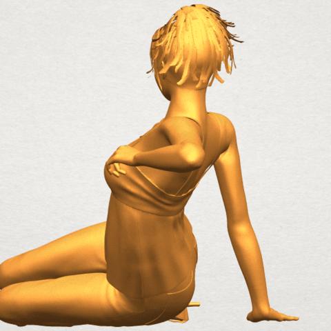 A05.png Télécharger fichier STL gratuit Fille Nue F06 • Modèle pour impression 3D, GeorgesNikkei