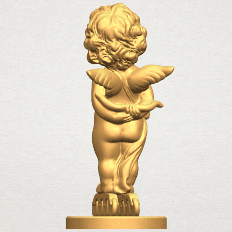TDA0478 Angel Baby 01 A04.png Download free STL file Angel Baby 01 • 3D print template, GeorgesNikkei