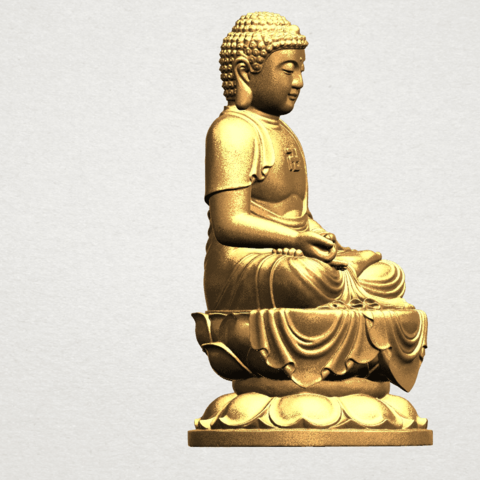 Gautama Buddha (ii) A07.png Download free STL file Gautama Buddha 02 • 3D print template, GeorgesNikkei