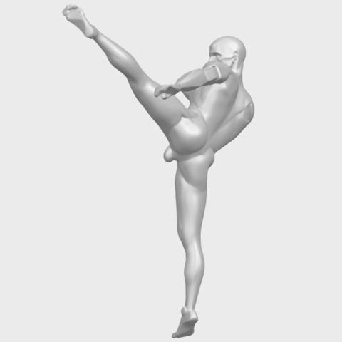 06_TDA0547_Man_KickingA05.png Télécharger fichier STL gratuit Man Kicking • Objet pour impression 3D, GeorgesNikkei