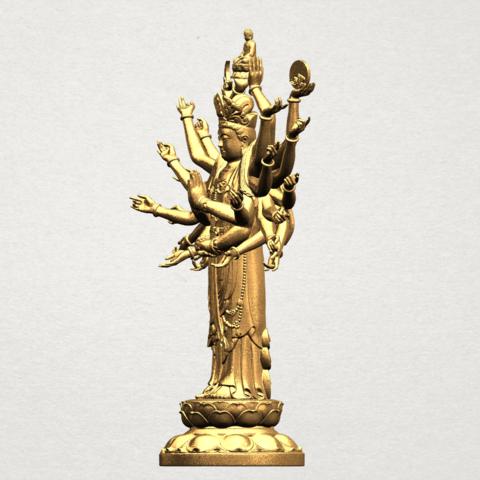 Avalokitesvara Bodhisattva (multi hand) 80mm -B03.png Download free STL file Avalokitesvara Bodhisattva (multi hand) (i) • 3D print object, GeorgesNikkei