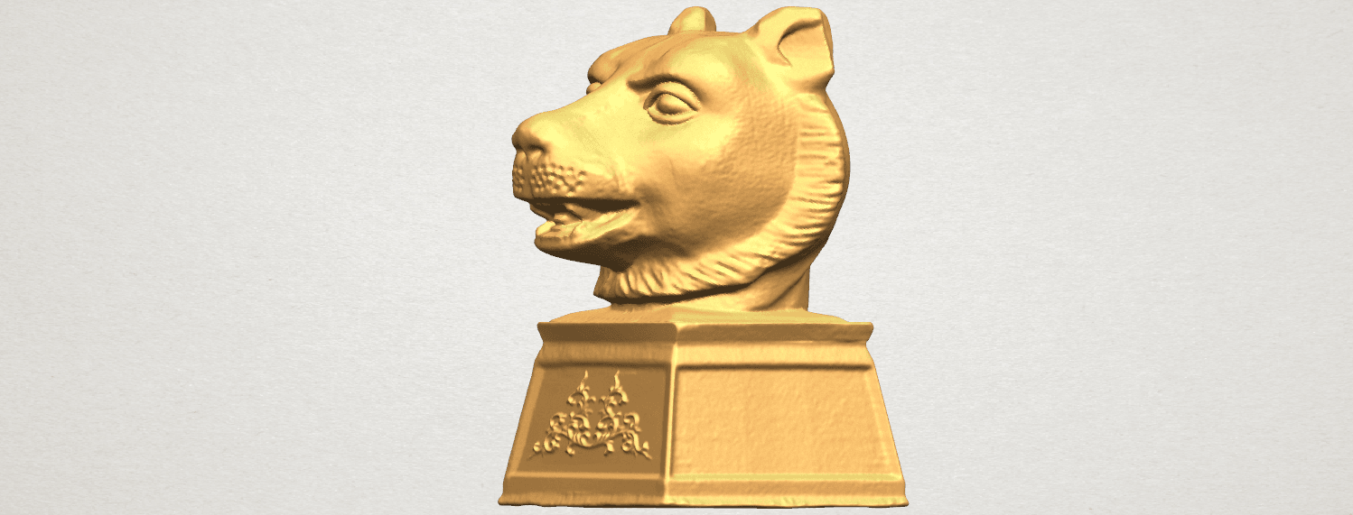 TDA0510 Chinese Horoscope of Tiger 02 A02.png Download free STL file Chinese Horoscope of Tiger 02 • 3D print object, GeorgesNikkei