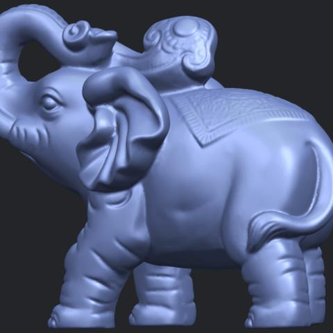 09_Elephant_02_150mmB05.png Télécharger fichier STL gratuit Eléphant 02 • Plan imprimable en 3D, GeorgesNikkei