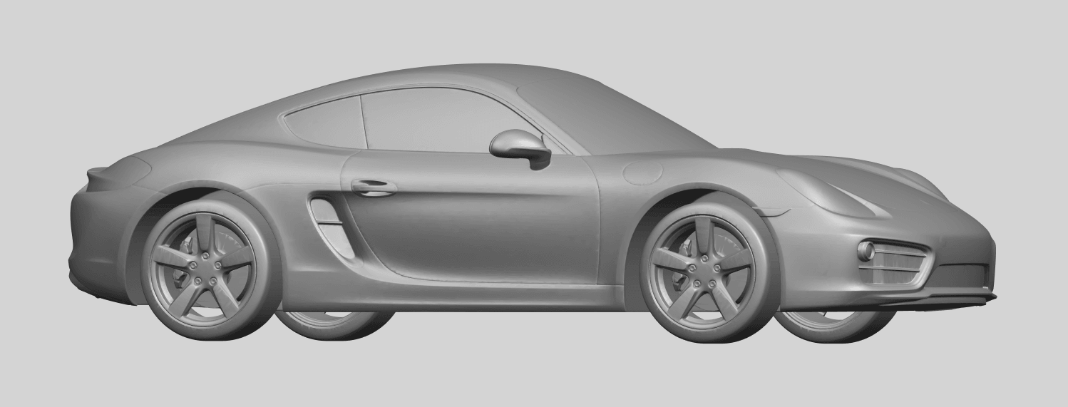 16_TDA0304_Porche_01_Length438mmA07.png Download free STL file Porche 01 • 3D printable object, GeorgesNikkei