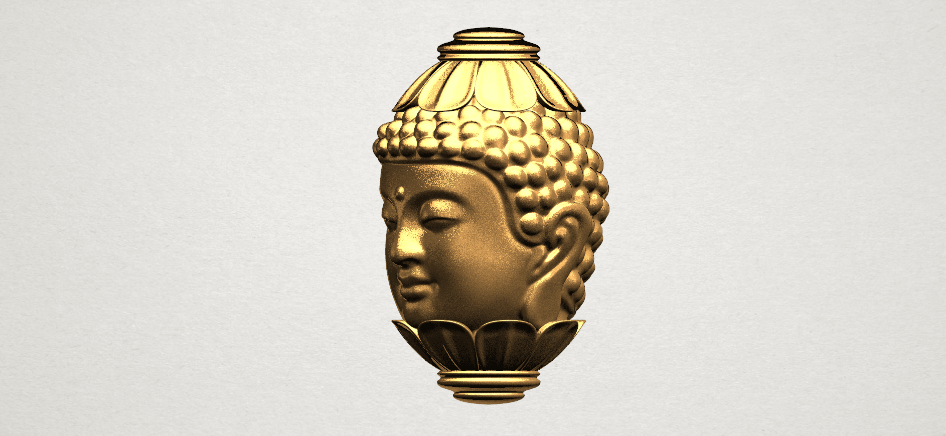 Buddha - Head Sculpture 80mm -A03.png Download free STL file Buddha - Head Sculpture • 3D printing model, GeorgesNikkei