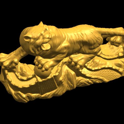 14.png Télécharger fichier STL gratuit Tigre de Sibérie • Objet imprimable en 3D, GeorgesNikkei