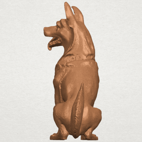 TDA0307 Dog - Wolfhound A05.png Download free STL file Dog - Wolfhound • 3D printer model, GeorgesNikkei
