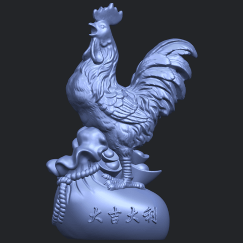 08_TDA0321_CockB01.png Télécharger fichier STL gratuit Coq 01 • Design pour impression 3D, GeorgesNikkei