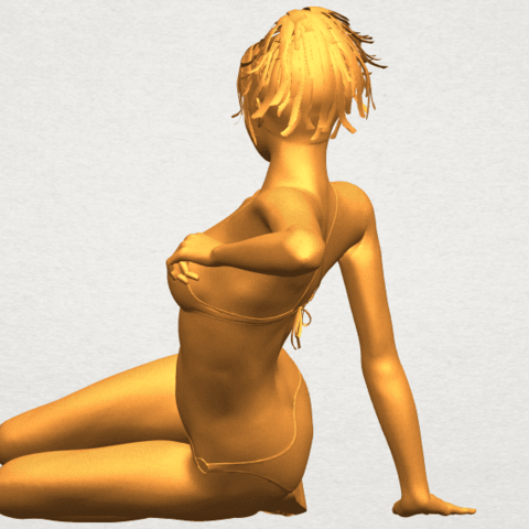 A05.png Download free STL file Naked Girl F02 • 3D printable template, GeorgesNikkei