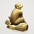 Chinese Horoscope09 - B04.png Télécharger fichier STL gratuit Horoscope Chinois 09 Singe 09 Singe • Objet pour imprimante 3D, GeorgesNikkei